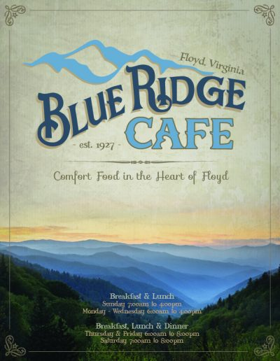 Blue Ridge Cafe Floyd Restaurant Menu